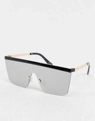 Солнцезащитные очки-маска с плоским верхом и зеркальными стеклами ASOS DESIGN