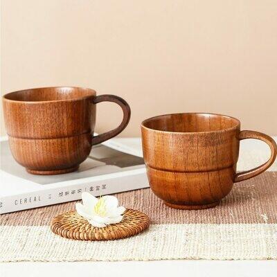 Деревянная чайная чашка с ручкой 1 шт