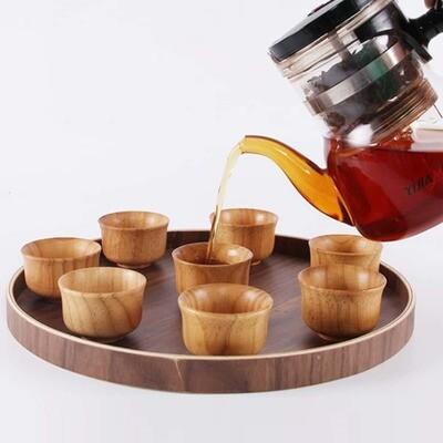 Деревянная чайная чашка 1 шт
