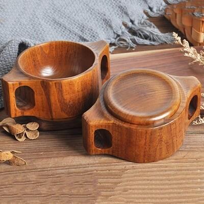 Деревянная чашка чая с ручкой 1 шт