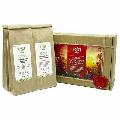 Чай черный 101 чай Набор черных чаев с добавками ассорти, 120 г