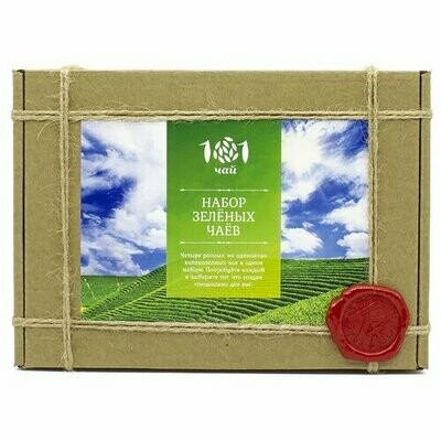 Чай зеленый 101 чай Набор зеленых чаев ассорти, 120 г