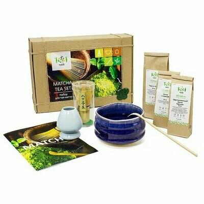 Чай зеленый 101 чай Matcha tea set подарочный набор, 70 г