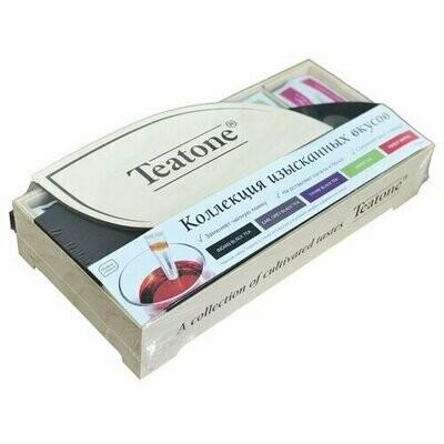 Чай Teatone Коллекция изысканных вкусов ассорти в стиках подарочный набор, 75 шт.
