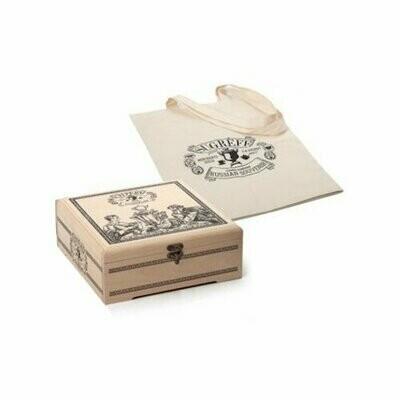 Чай Сугревъ ассорти подарочный набор в деревянной шкатулке с холщовой сумкой, 225 г