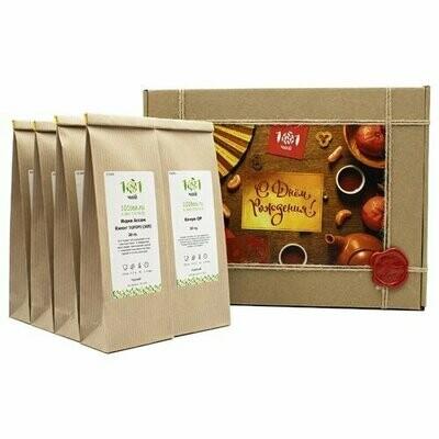 Чай черный 101 чай С днем рождения! №5 подарочный набор, 240 г