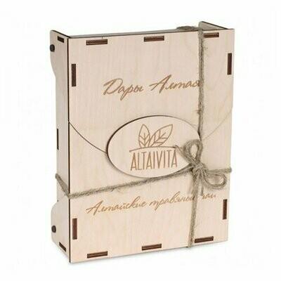 Чай травяной Altaivita ассорти в фильтр-пакетах, подарочный набор в деревянном ларце, 10 шт.
