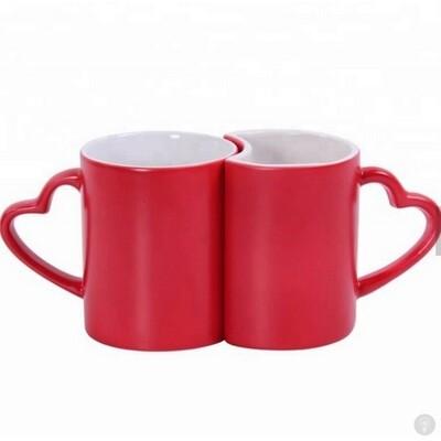 Набор чашек для влюбленных Две Половинки