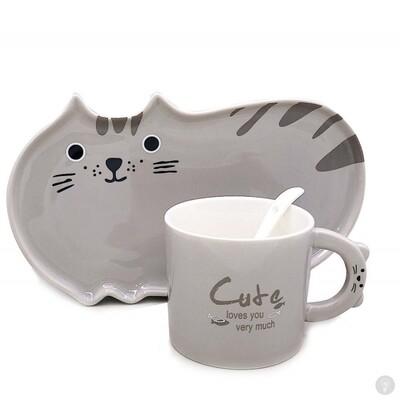 Набор керамической посуды Full Cats