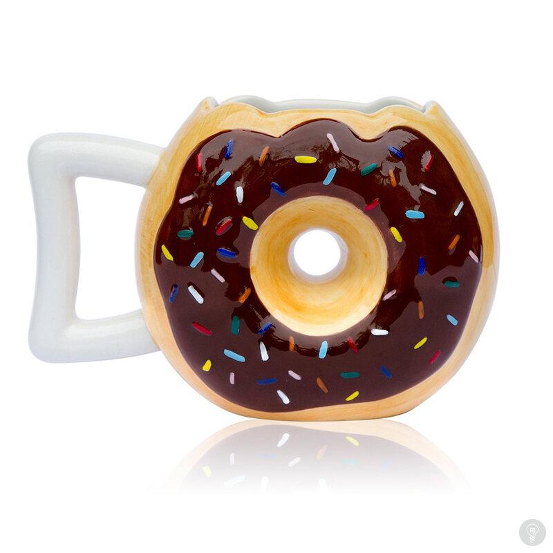Кофейная кружка Donut coffee mug шоколадная