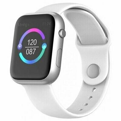 Часы BandRate Smart SX1616 (silicone) белый/серебристый