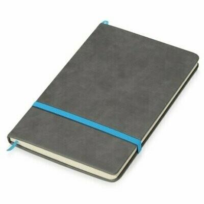Блокнот Oasis Color серый/синий, A5, 80 листов