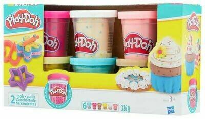 Масса для лепки Play-Doh Набор с конфетти 6 банок