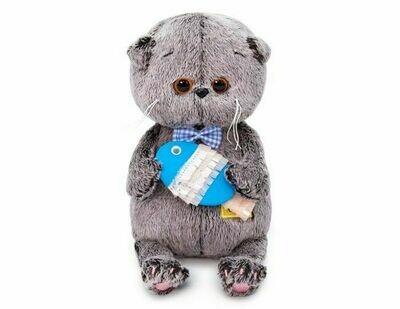 Мягкая игрушка Budi Basa Басик Baby с рыбкой 20 см