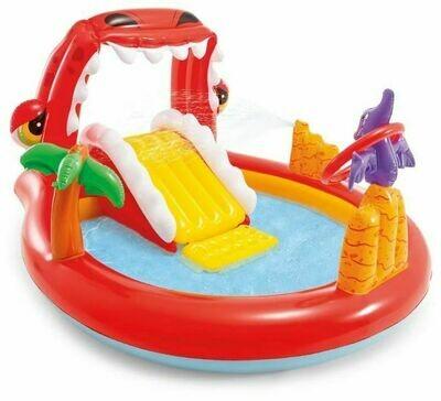 Игровой центр-бассейн Happy Dino, с горкой, распылит., игрушками от 2 лет 196х170х107см