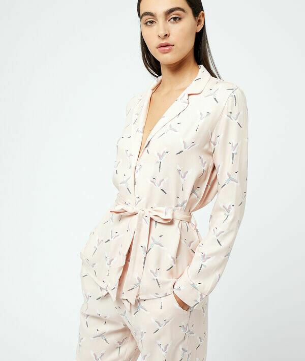 Пижамная рубашка с принтом 'птицы' JUDITH