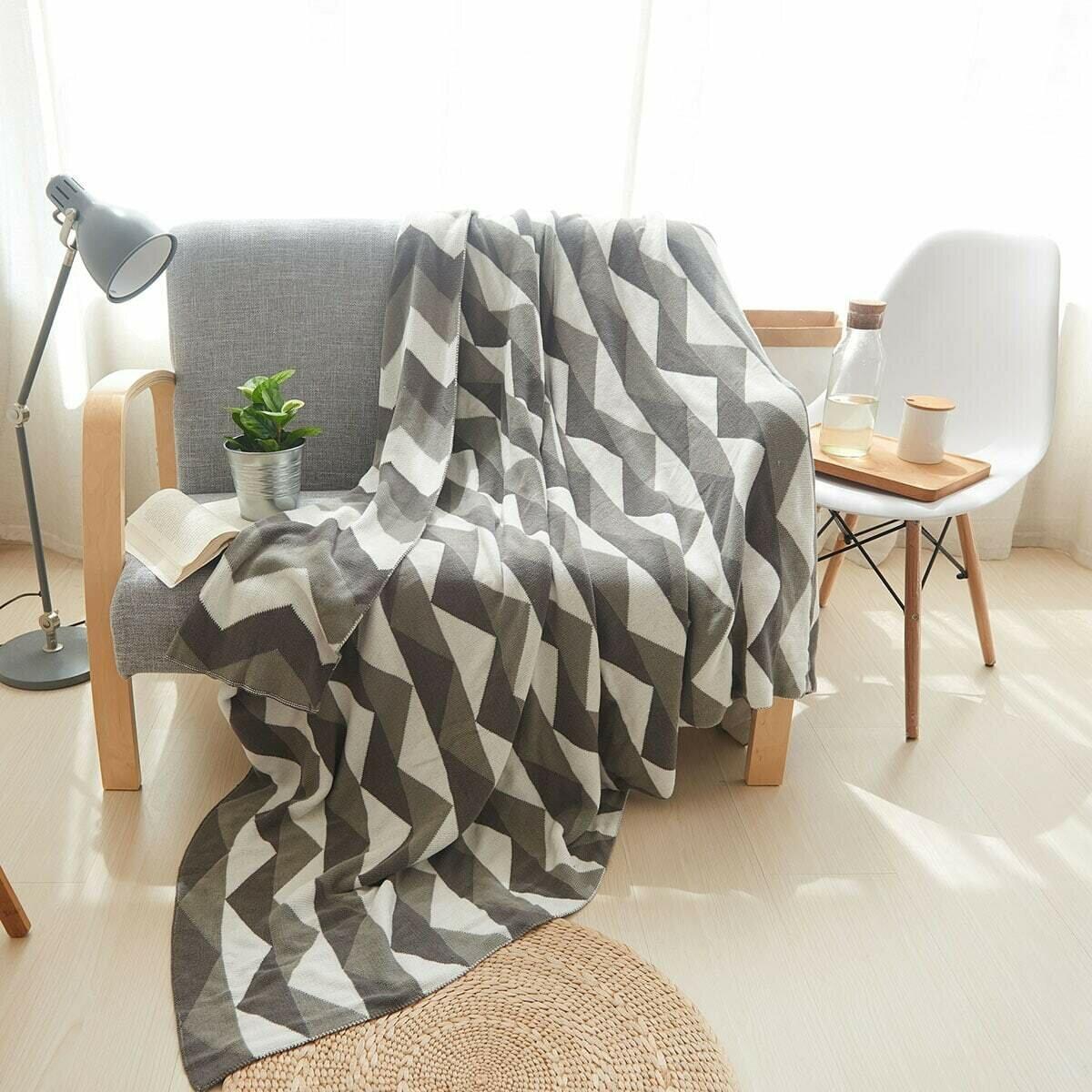 Одеяло с шевронным рисунком