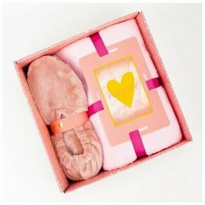 Комплект с пледом Этель 100 х 150 см, розовый