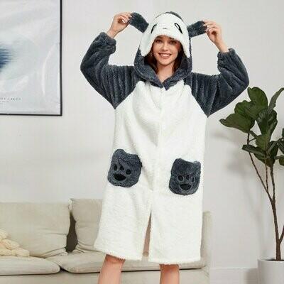 Милый Халат с карманами Панда