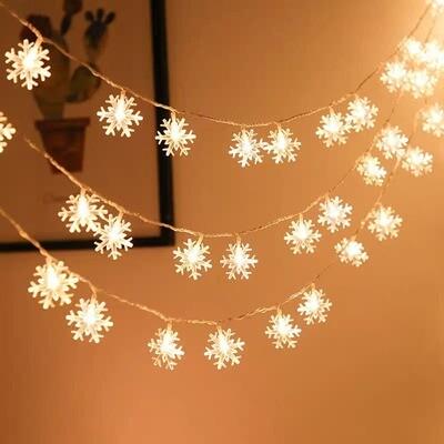 Гирлянда с лампочками в форме снежинки 20шт