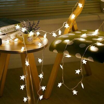 Гирлянда 12v с 20 шт лампочк в виде звезд
