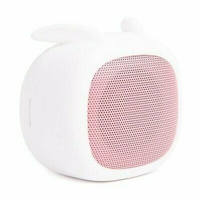 Портативная акустика Atom BS-02 rabbit бледно-розовый/белый
