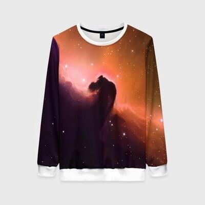 Женский свитшот 3D «Nebula (S)»