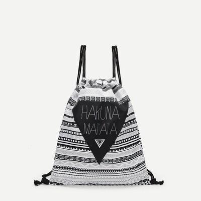 Рюкзак с принтом геометрических фигур и букв
