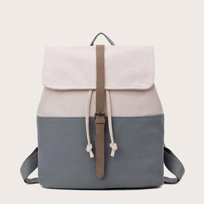 Двухветный парусиновый рюкзак с пряжкой
