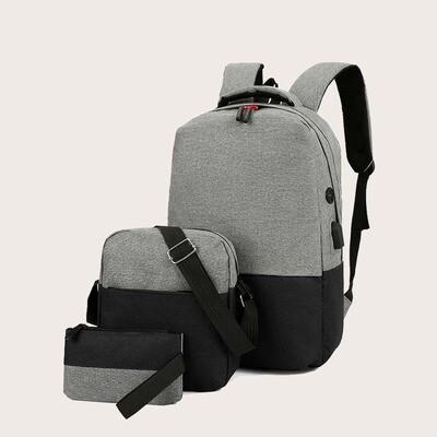 Мужской двухцветный рюкзак и сумка через плечо