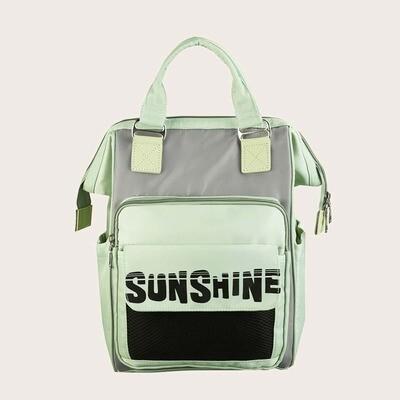 Контрастный рюкзак с текстовым принтом