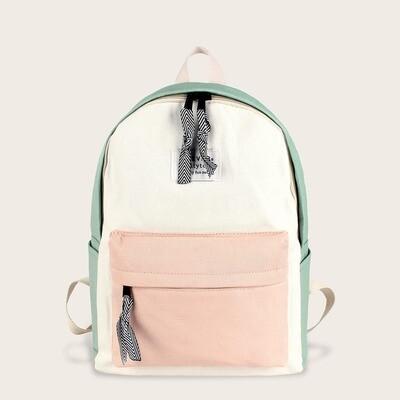 Контрастный рюкзак с карманом