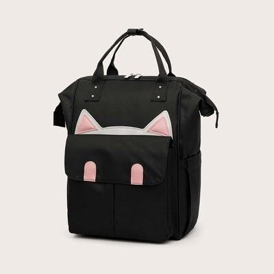 Рюкзак с карманом и вышивкой