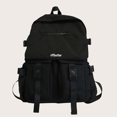 Мужской рюкзак с текстовым принтом