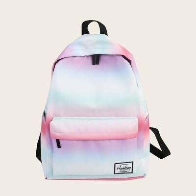 Разноцветный рюкзак с карманом