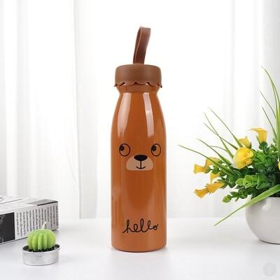 Термос Cute bear коричневый
