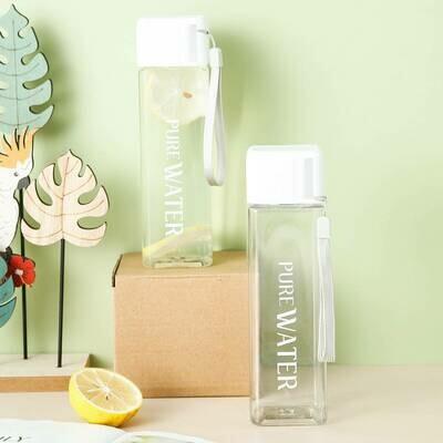 Портативная акриловая бутылка для воды белая