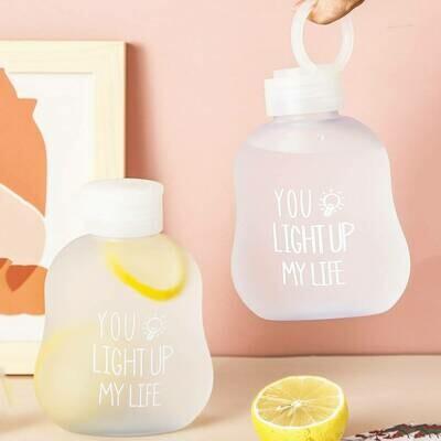 Матовая бутылка для воды с текстом