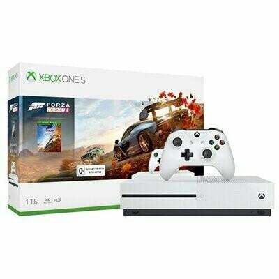 Игровая приставка Microsoft Xbox One S 1 ТБ белый + Forza Horizon 4