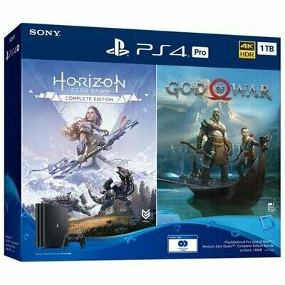 Игровая приставка Sony PlayStation 4 Pro черный + Horizon Zero Dawn CE + God Of War