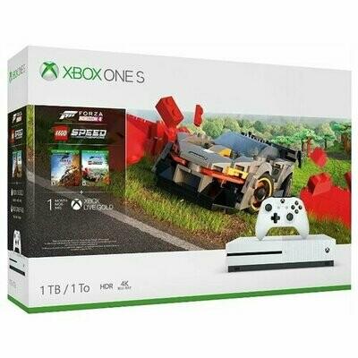 Игровая приставка Microsoft Xbox One S 1 ТБ белый + Forza Horizon 4 + LEGO Speed Champions + XboxLiveGold 1мес