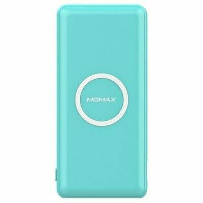 Аккумулятор MOMAX Q.Power Minimal Wireless 10000 mAh, голубой