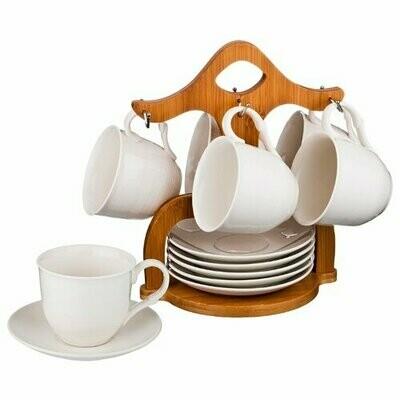 Чайный сервиз Lefard Native 587-109, 6 персон белый