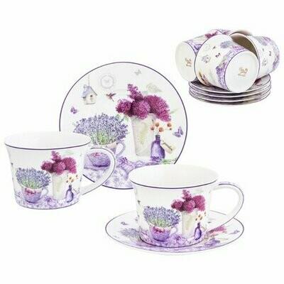 Чайный сервиз Elan gallery Лаванда, 6 персон лаванда