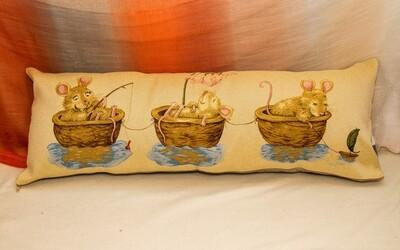 Гобеленовая наволочка 35x90 декоративная