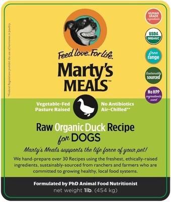 Raw Organic Duck