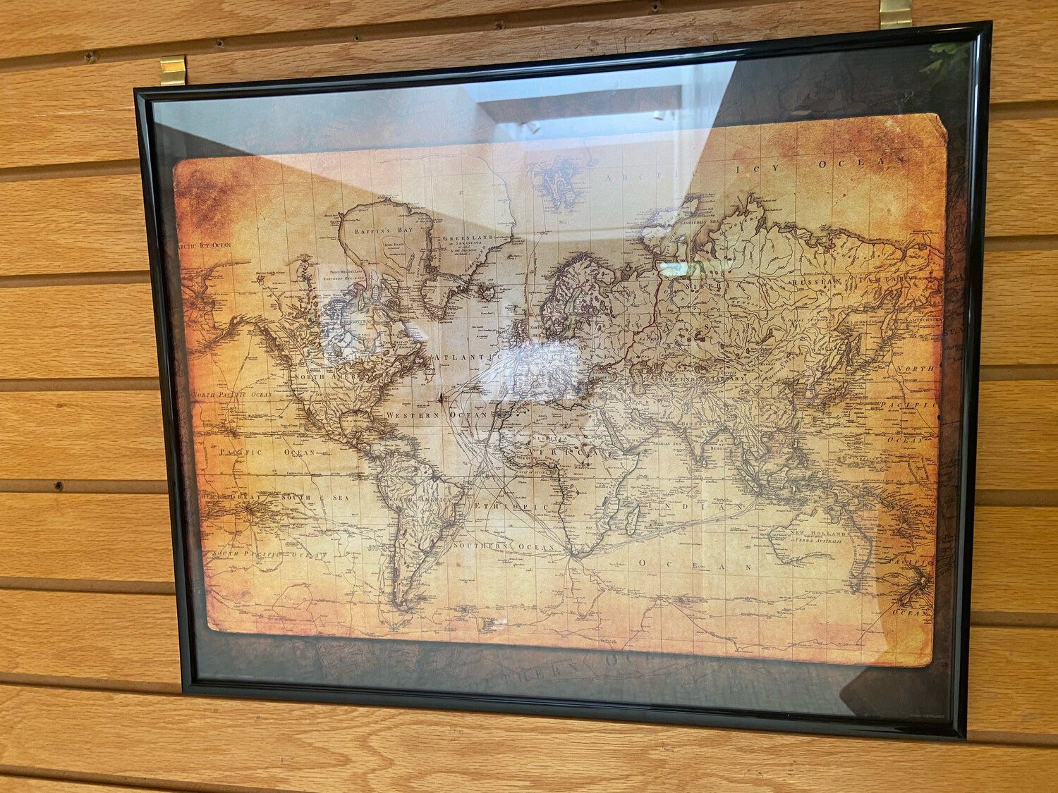 Framed reproduction map