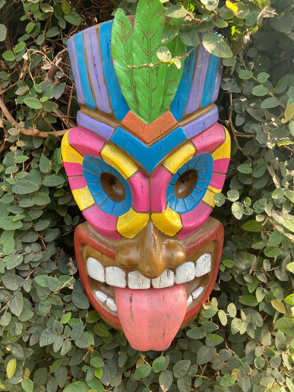 Pair of Tiki Masks (resin)