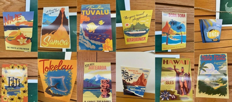 Set of Island postcards