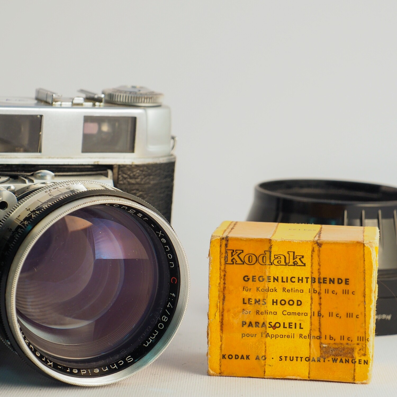 Kodak Retina II C (big C) + 50mm f:2.8 + 80mm f:4.0
